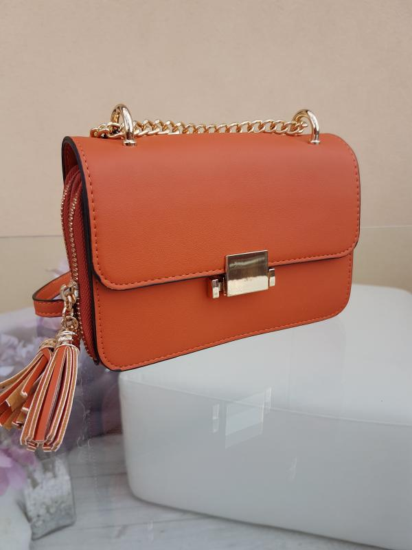 Crossbody mini kabelka - ORANGE